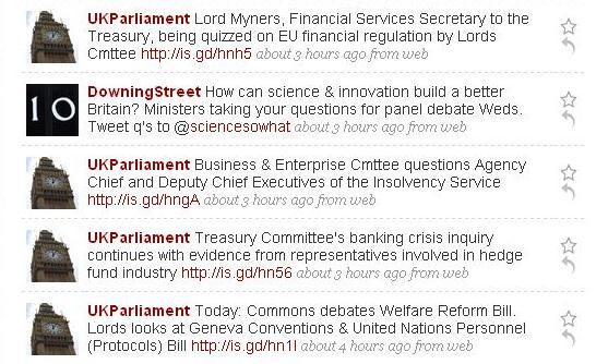 @DowningStreet and @UKParliament use Twitter